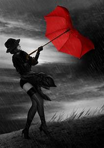 Black And White With Red Umbrella Photography Red umbrella ...