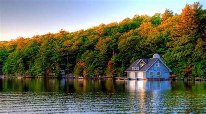 Boathouse Summer Wallpapers Lake Boat