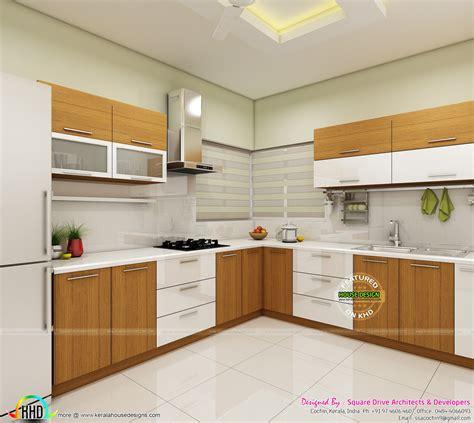 modern home interiors of bedroom dining kitchen kerala