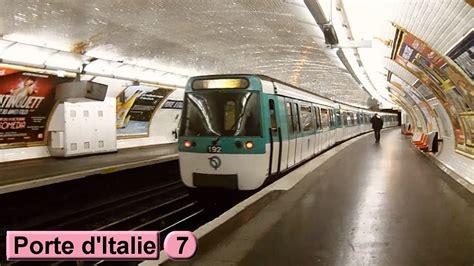 m 233 tro porte d italie line 7 ratp mf77