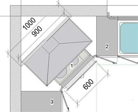 schema cuisine comment poser une hotte en angle dans une cuisine schéma