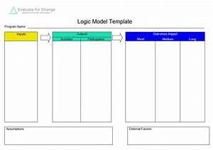 5 blank logic model templates formats examples in word With logic model template microsoft word