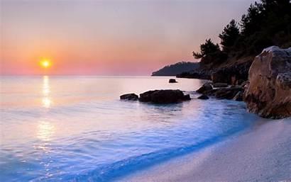 Sea Nature Sunset Wallpapers Seas Pixelstalk Beach