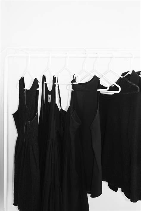 Black Clothes Wardrobe by Photography Black And White Fashion