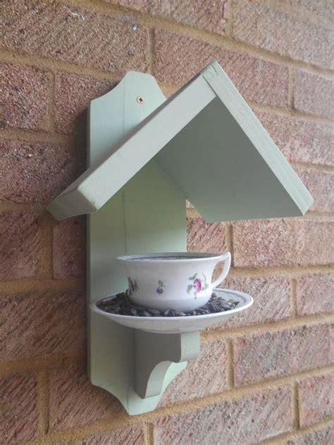 tea cup bird feeder vintage cup  saucer diy bird