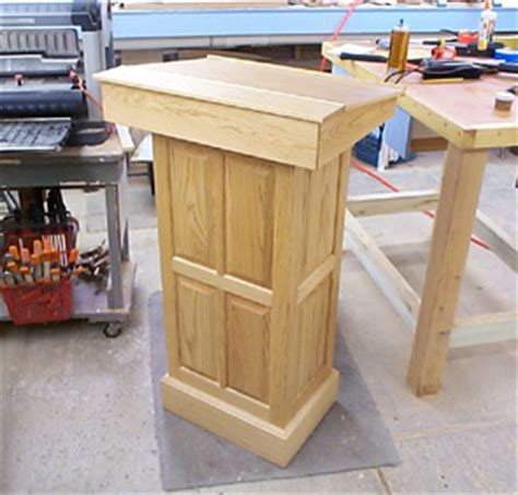 woodwork build wood podium  plans
