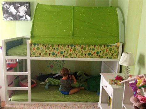 Ikea Kura Bed Hack Blue Or Green Tent On Top Toyreading