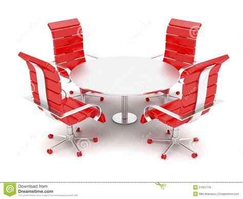 table ronde de bureau fauteuils de bureau et table ronde photos libres de droits