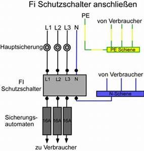 Fi Schalter Anklemmen : fi schutzschalter anschlie en anleitung ~ Whattoseeinmadrid.com Haus und Dekorationen