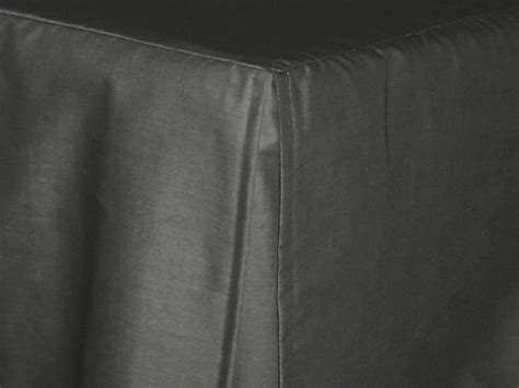 charcoal gray tailored bedskirt  cribs  daybeds