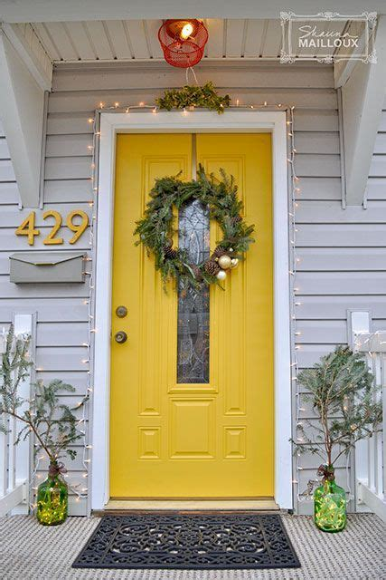 26 bold front door ideas in bright colors house yellow