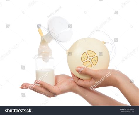 New Compact Electric Breast Pump Increase Stock Photo