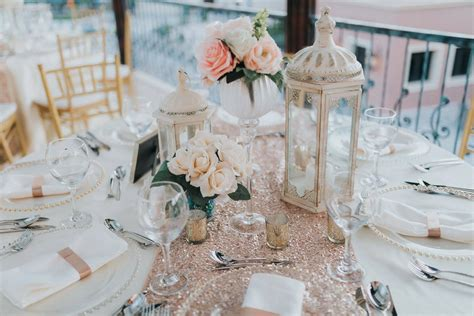 Elegant Rose Gold Wedding DecorCana Weddings By