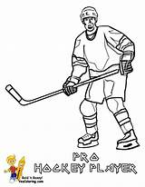 Hockey Coloring Player Sheets Pages Sports Players Yescoloring Boys Trick Hat sketch template