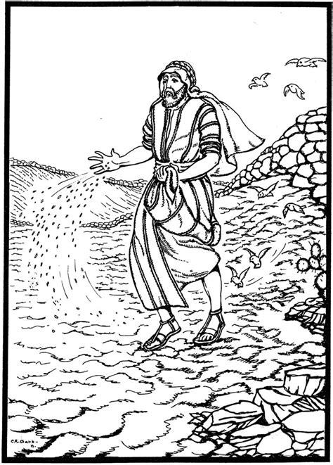 Kleurplaat Mattheus 13 ds jannie nijwening sermons speakers alle dag kerk