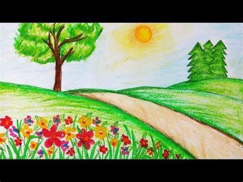 draw garden scenerystep  stepeasy draw