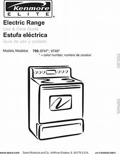 Kenmore Elite 79097472802 User Manual Electric Range