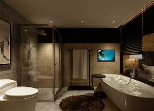 Bathroom Toilet Night View