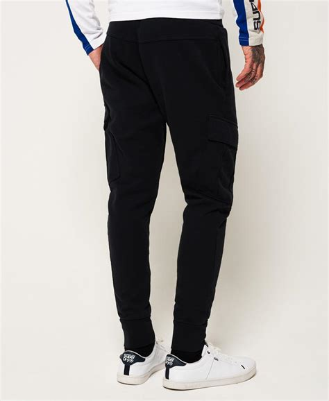 lyst superdry cargo pocket joggers  blue  men