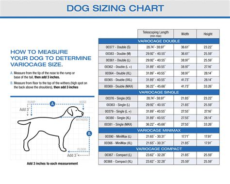 crate size chart vari kennel sizes