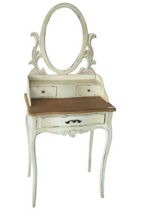 Distressed Bathroom Vanity Mirror by Dressing Table With Oval Mirror In Distressed Finished