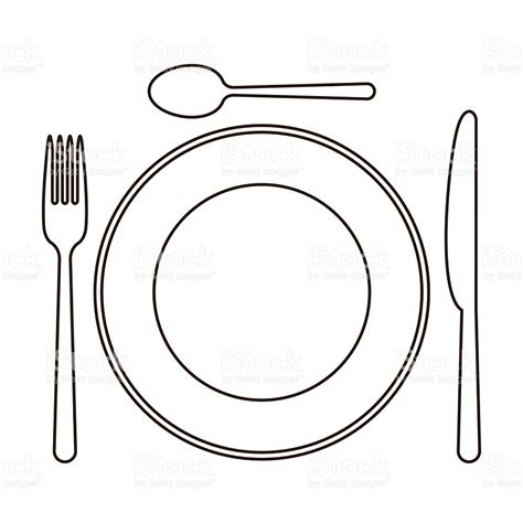 Place Setting Template Template Place Setting Template