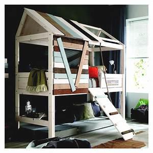 Cabane Lit Enfant : lit cabane gar on 90x200 plan inclin ~ Melissatoandfro.com Idées de Décoration