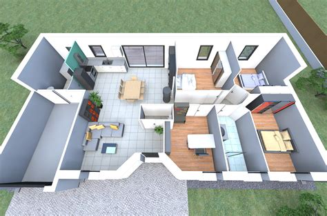 maison 4 chambres cool best exposition plan maison chambres garage and d on