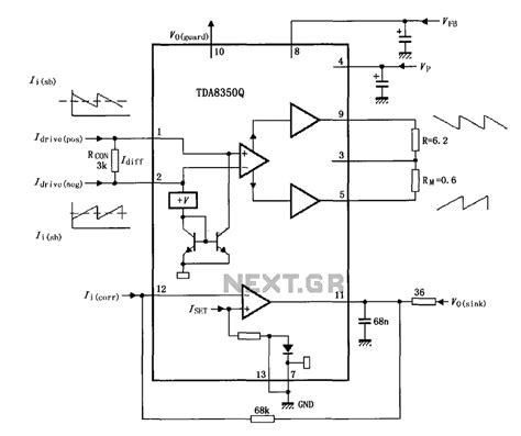 test l circuit tda8350q test circuit diagram other circuits 59207