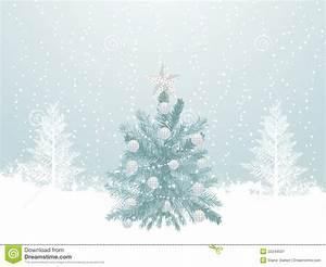 Snowy Winter Christmas Tree Scene Stock Vector ...