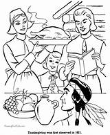 Coloring Thanksgiving Pages Dinner Printable Holiday Pilgrims Sheet Raisingourkids Printing Help History American sketch template