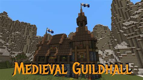 minecraft gundahar tutorials medieval guildhall  youtube