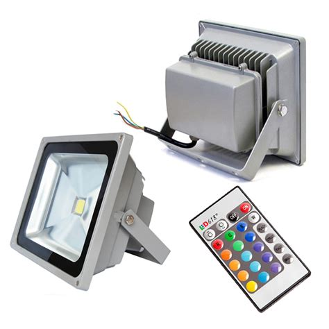 outdoor ip65 waterproof rgb colour changing led floodlight