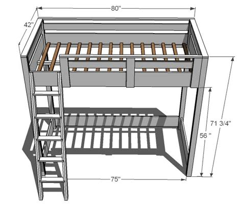 Loft Bed Plans by White How To Build A Loft Bed Diy Projects