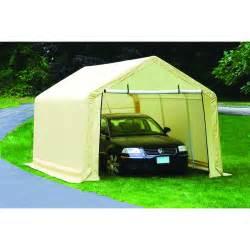 10 ft x 17 ft portable garage