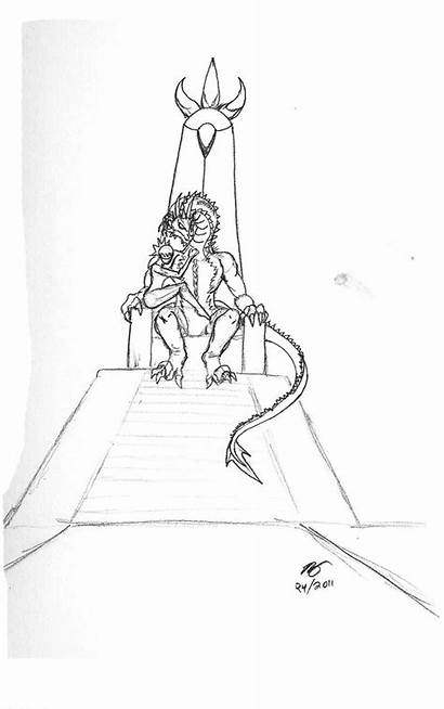 Rendragonclaw Throne Sketch His Deviantart