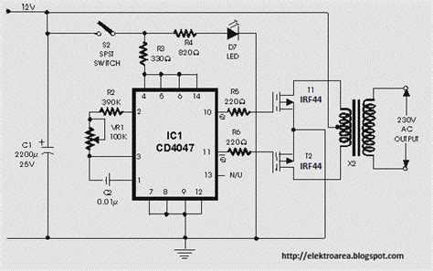 Irf Mosfet Inverter Circuit With Stable Output