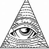 Coloring Illuminati Eye Seeing Simple Designlooter Drawings Computer sketch template