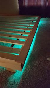 Bed Decoration Lights Platform Bed With Led Lights Low Profile Bed With Built
