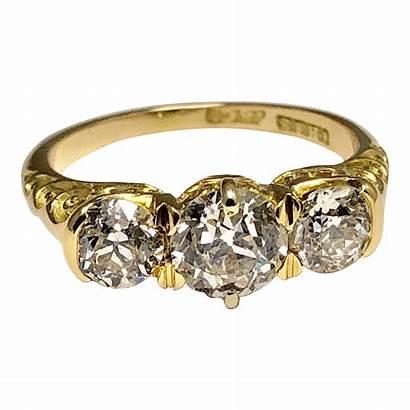 Diamond Ring Victorian Trilogy Gold 18ct Stone