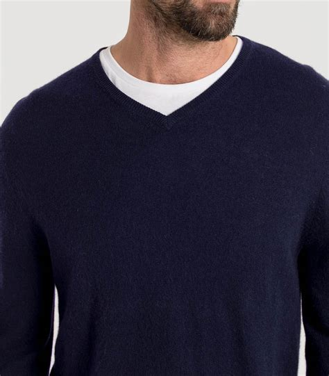 mens v neck sweater navy 20 80 merino mens and merino