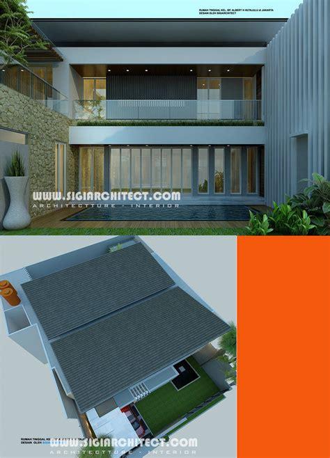 rumah mewah  lantai kolam renang privat modern minimalis