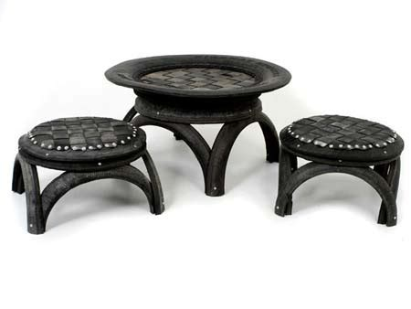 dishfunctional designs upcycled recycled tires