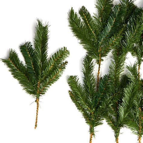 artificial pine greenery picks holiday florals christmas and winter holiday crafts