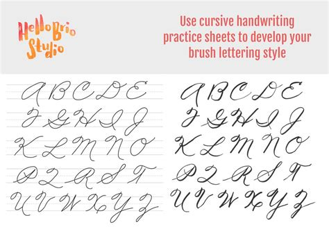 They can play games in the nursery like numbers. Practice brush lettering with cursive handwriting worksheets | Hello Brio