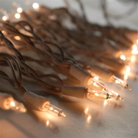 clear mini string lights white wire 100 bulb
