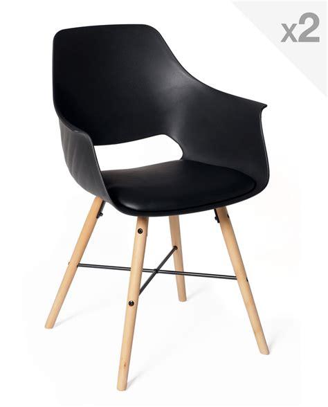 a la chaise lot de 2 chaises design scandinave avec coussin tao