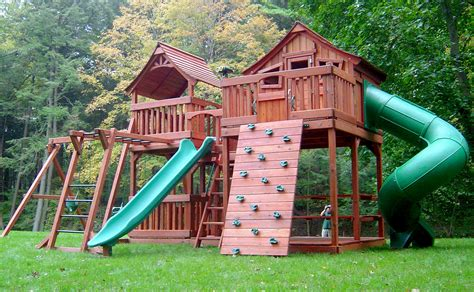 Home Playground : Backyard Fun Factory Playsets