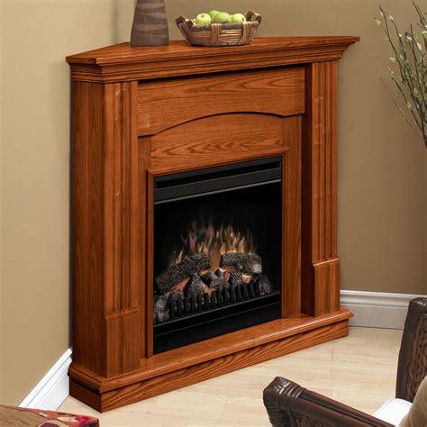 dimplex branson oak corner electric fireplace  hayneedle
