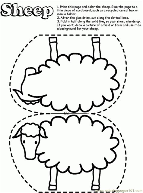 coloring pages for preschoolers parable of lost sheep 183   LTKrzz7oc